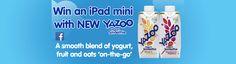 Win a iPad mini with new Yazoo Yogurt Smoothie Yazoo, Yogurt Smoothies, Ipad Mini, Competition, Tech, House, Ideas, Style, Swag