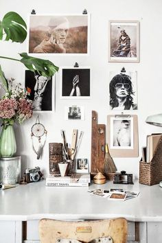 Eclectic Home Office Inspiration · Workspace Design · Creative Studio · Artist Desk