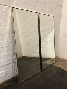 Bespoke Rectangular silver mirror with unlacquered polished brass frame created for a client #rectangularmirror #polishedbrass #bathroommirror #wallmirror Blue Mirrors, Polished Brass, Console Table, Bespoke, Bronze, Elegant, Frame, Outdoor Decor, Wall