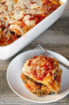 Eggplant is so underrated. It's an amazing, hearty veggie to start with, and we especially love it as a main ingredient in classic Italian dishes. You can finally enjoy your favorite flavors without feeling like you have a brick in your tummy afterward. Our baked eggplant Parmesan is a lighter version of a heavy dish without compromising the savory, cheesy vibe you desire.
