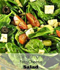 Do It All Working Mom - Spinach and Feta Cheese Salad