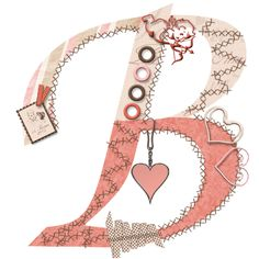 CH.B *✿* Alfabeto de San Valentin....B Alpha Bet, Always Love You, Joy And Happiness, Letters And Numbers, Clipart, Valentino, Initials, Hearts, Symbols