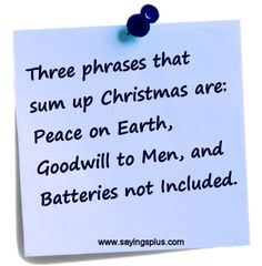 Funny Christmas quotes and sayings.
