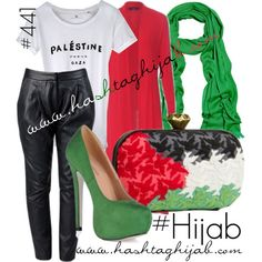 Hashtag Hijab Outfit #441 | #FREEPALESTINE