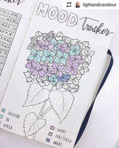 By @lightandcandour Tag your photos with #bujobeauty for a chance to be featured ・・・ My mood tracker this month. Been a fairly happy chappy. Pro-tip: when creating a funky mood tracker, make sure to add the dates to the different sections to save yourself a headache and for easy updating. #bulletjournal #moodtracker