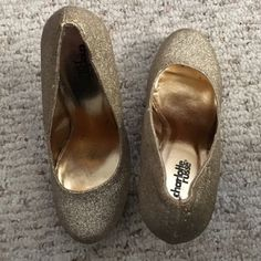 Glitter Heels Preloved. Size 7. 5 1/2 inch heel. Great shape. No issues. No box                                                                    Rules: Offers via offer function No trades                                                               No modeling Charlotte Russe Shoes Platforms