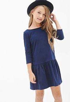 Heathered Drop-Waist Dress (Kids) - Dresses - 2000099742 - Forever 21 EU English