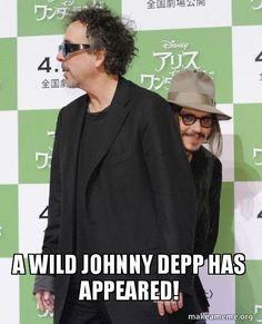 A wild Johnny Depp!