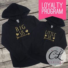 Welcome to Courtney Leigh Prints!  These tops are sure to make your little ones sparkle! Featuring Big Sis and Little Sis with hearts and an