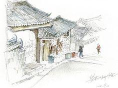 북촌 한옥마을 1북촌 한옥마을 2전주 한옥마을그간 그렸던 한옥 일러스트 입니다.
