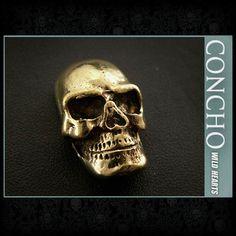 Skull Concho Brass  WILD HEARTS Leather&Silver (ID cc2847)  http://item.rakuten.co.jp/auc-wildhearts/cc2847/