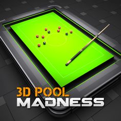 3D Pool Madness FREE for iOS and Android by EivaaGames.