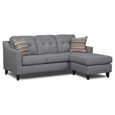 Living Room Furniture - Marco Chaise Sofa (Cheep $499.99) needs new pillows clearly
