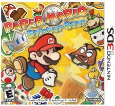 Nintendo's classic Paper Mario franchise gets a fresh look in its hand-held debut. Stickers are the backbone of Mario's newest adventure in which players use stickers found in the game to not only win battles, but to solve puzzles as well. Xbox 360, Playstation, Nintendo Ds, Nintendo Switch, Nintendo Games, Wii Games, Game Boy, Cry Anime, Anime Art
