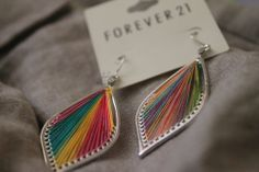 accesories, colorful, cute, earrings, forever 21 - image #200422 ...