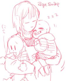 sans and papyrus and frisk