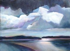 Looming over Lovesick Bay Acrylic 12x16, Mary Anne Dente, maryannedente.com