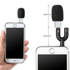 Koolertron mini microphone à condensateur pour téléphone mobile nterviewing Enregistrement pour iPhone / iPad, Android (noir): Amazon.fr: Instruments de musique