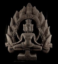 Khmer Sandstone Sculpture of Brahma Koh Ker Style, 10th Century