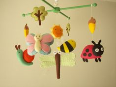 Baby crib mobile forest mobile animal mobile felt by Feltnjoy