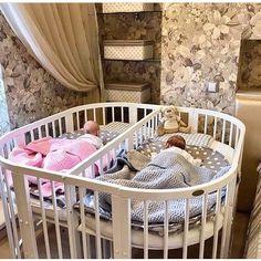 40 Ideas For Baby Nursery Twins Children - Modern Twin Baby Rooms, Baby Bedroom, Twin Babies, Baby Room Decor, Kids Bedroom, Twin Baby Beds, Twin Nurseries, Baby Cribs For Twins, Kids Bedroom Ideas