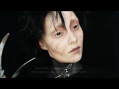 ▶ Edward Scissorhands Makeup Tutorial - YouTube