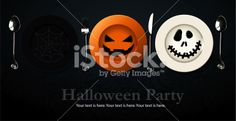 Vector of Poster, banner for Halloween Party Night Royalty Free Stock Vector Art Illustration