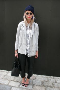 Casual Office Hipster Street Style Trend - as seen on Trendstop.com #fashion…