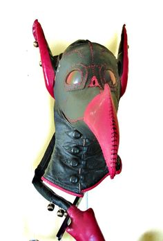 """""""Skeksis"""" Plague Mask by MythicCreations on Etsy, with eared hood and tail made by me!"""
