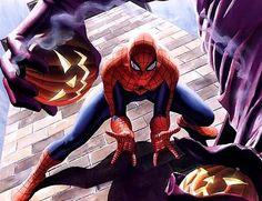 Spider-Man Battles the Green Goblin - Alex Ross