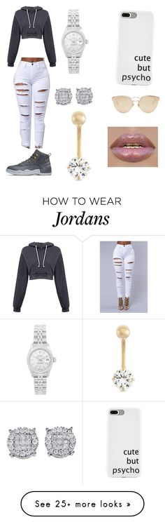 """""""Untitled #322"""" by quernroyalty on Polyvore featuring NIKE, Rolex, Gioelli and Christian Dior"""