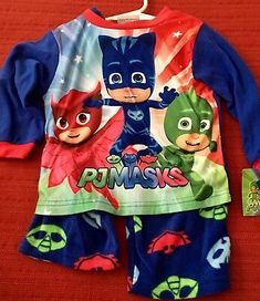 NWT Disney PJ Masks Toddler Boy 2 Piece Pajamas Size 3T