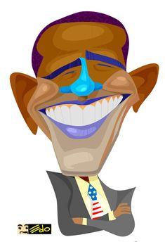 Barack obama caricature are-terrorist-for-drone-victims