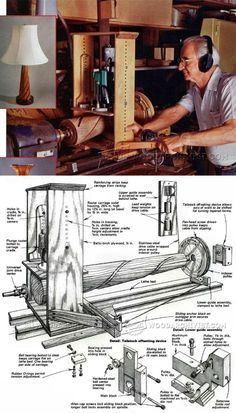 Lathe Router Spiral Cutting Jig - Lathe Tips, Jigs and Fixtures | WoodArchivist.com