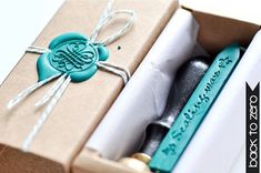Customized Gift Box  Perfect for Wax Seal Stamp door BacktoZero, $3.00