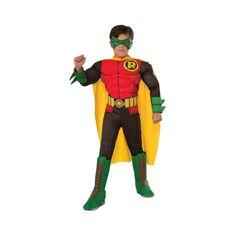 Robin Costume Newborn Baby Toddler Superhero Halloween Fancy Dress