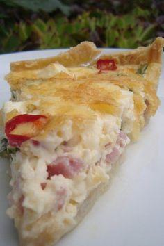 Tarta z łososiem-blog kulinarny-codojedzenia.pl Quiche, Feta, Chili, Breakfast, Blog, Kitchens, Breakfast Cafe, Chilis, Quiches