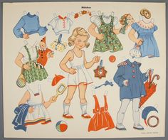 77.5186: Madchen | paper doll | Paper Dolls | Dolls | National Museum of Play Online Collections | The Strong