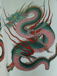 tattoos in japanese prints Japanese Tattoo Women, Japanese Tattoo Art, Japanese Tattoo Designs, Japanese Art, Japanese Prints, Dragon Tattoo Images, Dragon Tattoo For Women, Dragon Tattoo Designs, Chinese Dragon Art