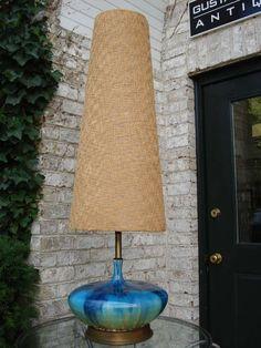 Extra Tall Mid-Century Ceramic Lamp at 1stdibs