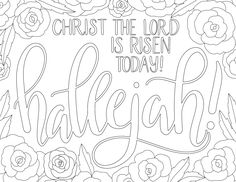 just what i {squeeze} in: Hallelujah! - free Easter coloring page
