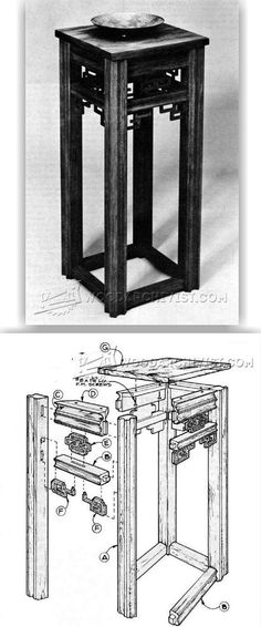 Oriental Table Plans - Furniture Plans and Projects | WoodArchivist.com