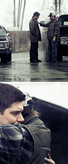 this is the last dean and bobby will see of each other for a very long time. 5x22 #spn | Supernatural