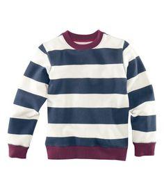 Ribbed Collar Sweatshirt -H kids