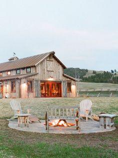 The Ranch at Rock Creek Philipsburg, Montana. Barn House Plans, Barn Plans, Dream House Plans, Dream Houses, Dream Barn, My Dream Home, Future House, Barn Shop, Barn Living