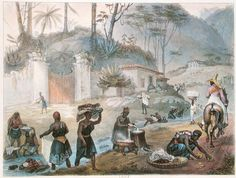 Black Washerwomen By A River by Jean Baptiste Debret (1768-1848, France)