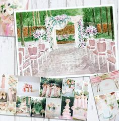 "47 Likes, 4 Comments - i0sik Юлия Каюда (@i0sikkayuda91) on Instagram: ""Очень нежная и легкая свадьба. Эскиз для @ahh.irina #illustrations #illustrator #weddingdecor…"""