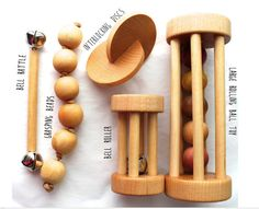 This 5 pack includes the following five toys: Large Rolling Ball Toy Bell Roller Interlocking Discs Bell Rattle Grasping Beads.