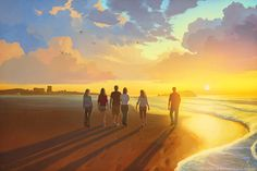 Brisbane story by RHADS > Feel that sunshine! http://www.deviantart.com/art/Brisbane-story-522241934?utm_content=buffer82595&utm_medium=social&utm_source=pinterest.com&utm_campaign=buffer #landscapeart #illustration
