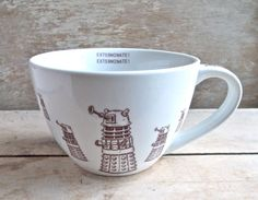 Large Doctor Who Dalek  Mug, Exterminate! Dalek Invasion, Sci Fi, 18 oz Coffee…